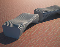 "Bench ""Brother"" Parametric furniture"