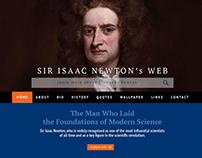 Sir Isaac Newton's Web Design