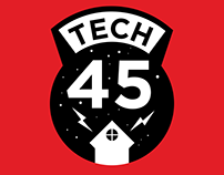 Tech45 logo and branding