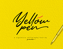 Yellow Pen Script Font Free