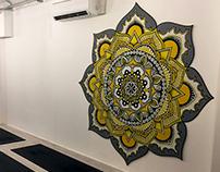 Mandala Artwork in More Yoga,Bermondsey Studio