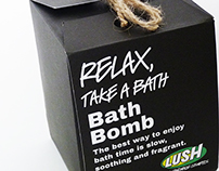 Lush Bath Bomb Packaging