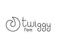 Twiggy - fashion brand logotype