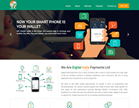 DIGITAL INDIA PAYMENT WALLET WEBSITE DESIGN