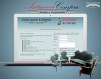 ANTICUARIO COMPRA - DISEÑO WEB - HTML - 2010