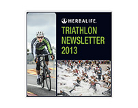 "Broszura ""Triathlon Newsletter 2013"" dla Herbalife"