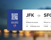 Daily UI #24: Boarding Pass