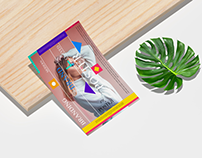 Modern Brand Curved Poster Mockup Free