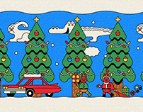 Paper toy series No.1 - Christmas House