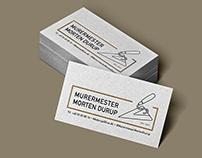 Murermester Morten Durup - Logo Design