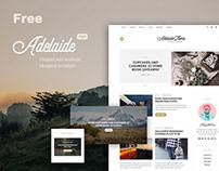 Adelaida Free PSD Blog Template
