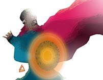 Doctor Strange minimalist Splash Poster