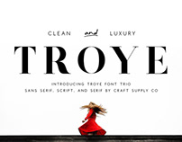 Troye Font Trio - Clean & Luxury (Free Download)