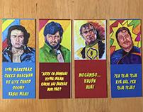 Quirky Pop Art Bookmark Design