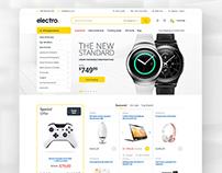 Electro - Electronics eCommerce PSD
