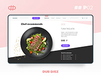 Website for a restaurant chain DEL MAR