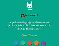 Fox App Landing page