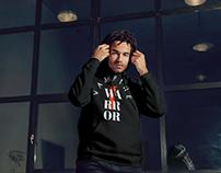 set of text based hoodies designs