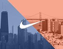 Nike: Chicago & San Francisco marathon pages.