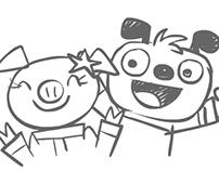 Astroblast! storyboards