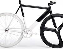 black & white fixie