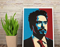 Robert Downey Jr - Layered Papercut Portrait