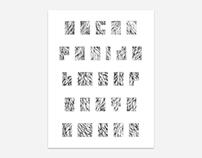 Pattern Filled Alphabets