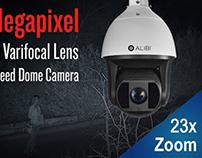 Alibi 1080p HD 23x Zoom 656' IR Outdoor Speed Dome PTZ