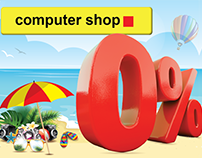 Computer Shop Summer Campaign Artwork