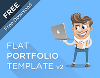 Flat Portfolio Template V.2