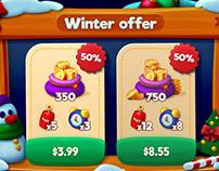 Winter sale offer window