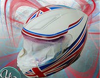 Airbrush on helmet london desingn