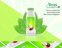 Alvas Buttermilk Bottle Label Design
