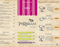 Persicco » rediseño de carta / menú