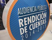 Audiencia Pública, Rendición de Cuentas 2014-2015