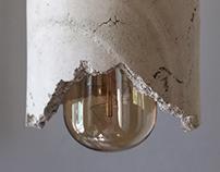 Concrete and Copper Lamps