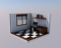 Isometric room from C4D