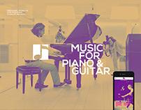 Modern musicians website and shop