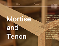 Mortise and Tenon Website