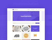 Fontinspiration Website Design
