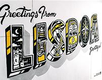 Lisboa - Hand Painted Mural