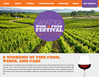 2015 Saratoga Wine & Food Festival Microsite