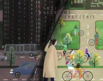 Animated bike poster