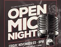 Open Mic Night Flyer Template