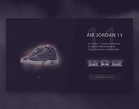 Jordan 11 ─ Shop Card Interface