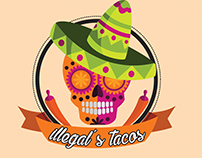sugar skull  #logo design