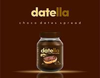 Datella / Choco dates spread / Label design