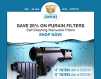 E-newsletter Redesign for Rain Harvesting Supplies