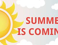 Social Media graphics for Summer
