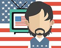Patriotic figures for july4